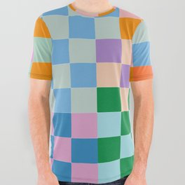 Checkerboard Collage All Over Graphic Tee