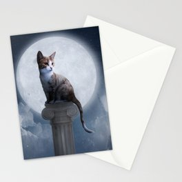 Cat In The Moon Stationery Cards