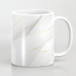 Sea Shell White with Gold Accents Coffee Mug