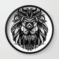 zodiac Wall Clocks featuring Signs of the Zodiac - Leo by Andreas Preis