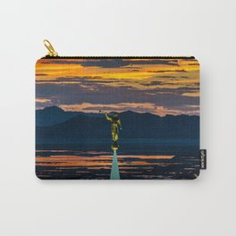 Bountiful Sunset - Moroni Statue - Utah Carry-All Pouch