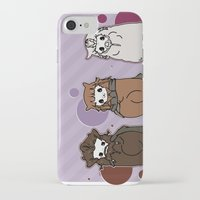 nori iPhone & iPod Cases featuring Dwarpaca family #3 by Lady Cibia
