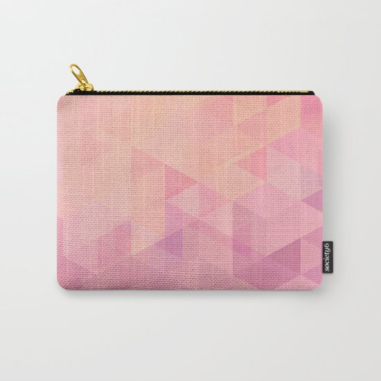 Geometric Pink  Carry-All Pouch