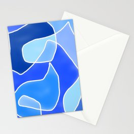 Abstract Blues Stationery Cards