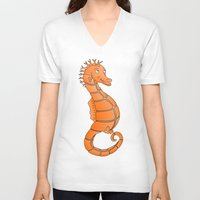 seahorse V-neck T-shirts featuring Seahorse by mailboxdisco