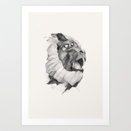 Seven Monkeys – Lust Art Print