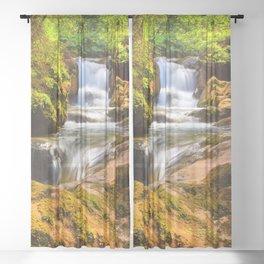 Swiss rapids. Sheer Curtain