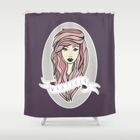 whatever Shower Curtains featuring Whatever by samantha lawson