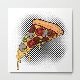 Pizza slice Metal Print