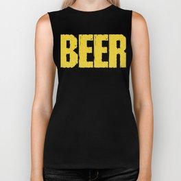 beer is the liquid version - I love beer Biker Tank