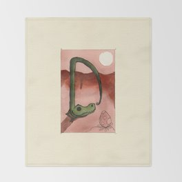Animal's Alphabet - D for 'Dinosauro' Throw Blanket