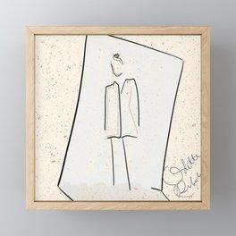 It's a mood 2 | mini fashion print | Line art fashion girl Framed Mini Art Print