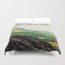 Denali Mountains Duvet Cover