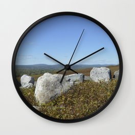 Mystic Maine Mountains Wall Clock