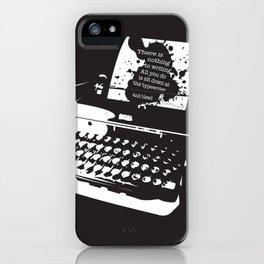 Ernest Hemingway Quote iPhone Case