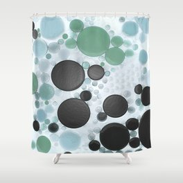 :: Overcast Day at the Beach :: Shower Curtain