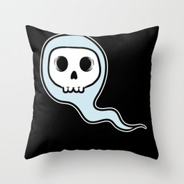 Naughty Adult Humor Floating Boo Throw Pillow
