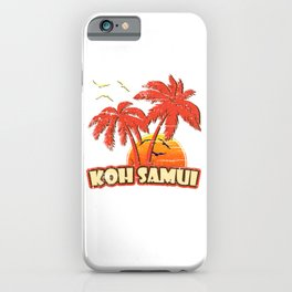 Koh Samui Vintage Sunset iPhone Case