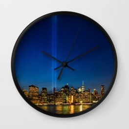Tribute in Light. New York City, 3 Wall Clock