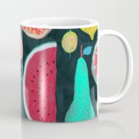 fruit Mugs featuring Fruit by Mouni Feddag