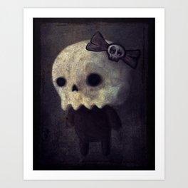 Lil' Miss Skellybones Art Print