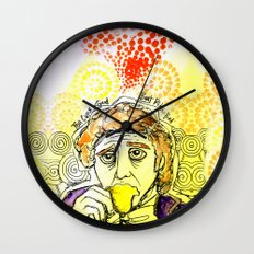Willy Wonka Drinks His Tea - Gene Wilder  Wall Clock