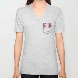 Pocket Axolotl Unisex V-Neck