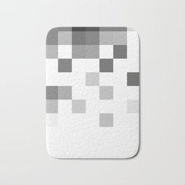 Gray Scale In Pixels Bath Mat