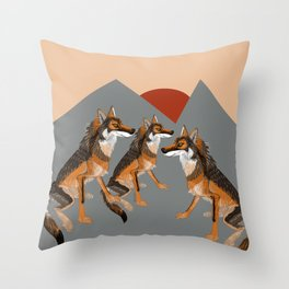 Wolves of the World: Iberian wolf (GREFA) Throw Pillow