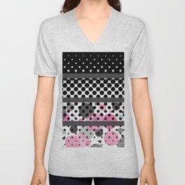 Design Pink and Black Unisex V-Neck