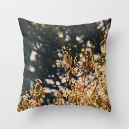 Rainy trees Throw Pillow
