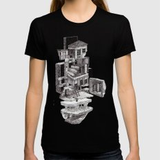 house 2 Womens Fitted Tee Black SMALL