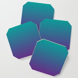 Ombre | Teal and Purple Coaster