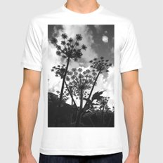 Shadow White MEDIUM Mens Fitted Tee