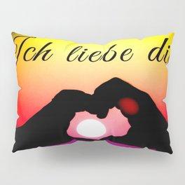 Ich liebe dich in pop-art Pillow Sham