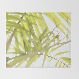 Abstract foliage Throw Blanket