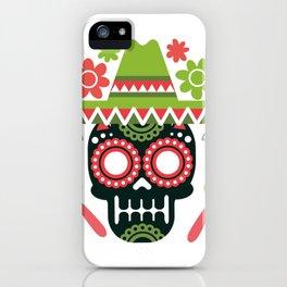Mexican Cinco De Mayo Skull Party iPhone Case