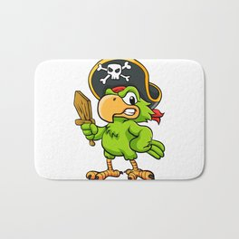 Pirate Parrot Bath Mat