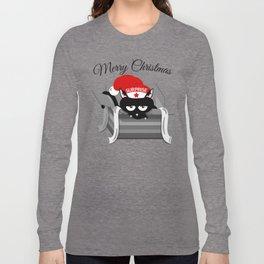 Naughty Cat Merry Christmas Long Sleeve T-shirt
