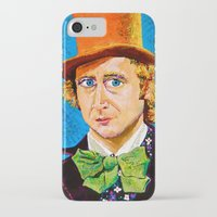 willy wonka iPhone & iPod Cases featuring Wonka by Jordan Soliz