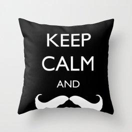 Mustache Throw Pillow