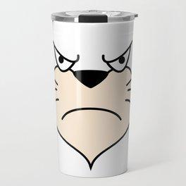 Cat Face - Angry Travel Mug