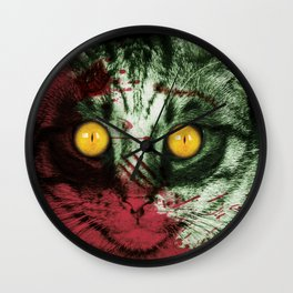 Zombie Kitty Wall Clock
