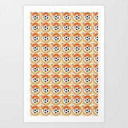 Oranje Art Print