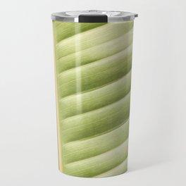 Retro Palm Leaf Abstract Travel Mug