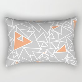 A Bazillion Triangles (Orange Gray) Rectangular Pillow