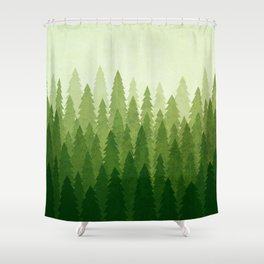 C1.3 Pine Gradient Shower Curtain