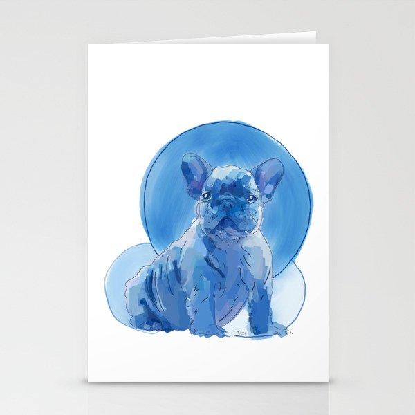Monochromatic French Bulldog Stationery Cards