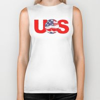 soccer Biker Tanks featuring USA Soccer by Bunhugger Design