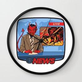 BREAKING NEWS Wall Clock